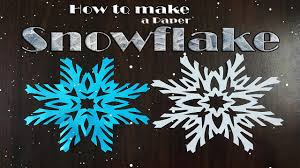 Paper Decorations Christmas How To Make Paper Snowflakes Very Simple Christmas Decorations
