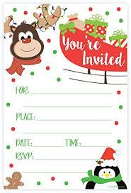 Invitaciones Fiesta Invitaciones De Fiesta De Navidad De Renos Estilo De Re