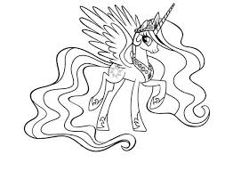 Small Picture My Little Pony Princess Celestia Coloring Page Coloring Sky