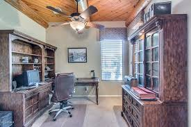 office ceiling fan. Traditional Home Office With Ceiling Fan, High Ceiling, Flush Light, Latitude Fan