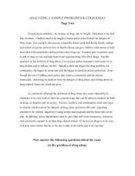 essay on problem solving process problem solving paper writing steps sample essays letterpile