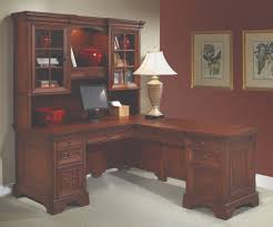 l shaped home office desk. interesting shaped lshaped computer desk and return  classic home office furniture in  cherrybrown with l shaped