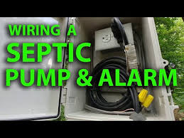 wire a septic tank pump & alarm system Aerobic System Wiring Diagram Aerobic Septic Tank