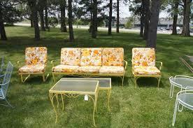 retro patio set awesome furniture stylish the