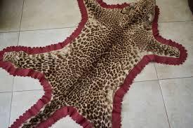 antique taxidermy indian leopard skin rug panthera pardus 178 x 104cm pre