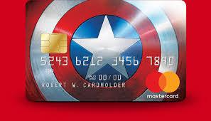marvel mastercard capn america card design
