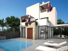 Neubau 3 Schlafzimmer Luxus Villen Mit Pool Und Solarium In Ciudad