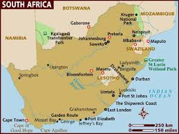 Map Of South Of Africa Map