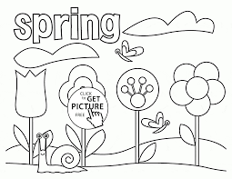 Cute Coloring Pages Spring Printable In Funny Free Printable Spring