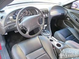 the 94 mustang was a clean slate interior design that harkened back to the 69 mustang and its twin pod dash theme after having pretty much the same fox