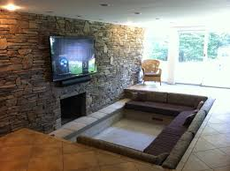 inch plasma over stone fireplace no mantle wires style home