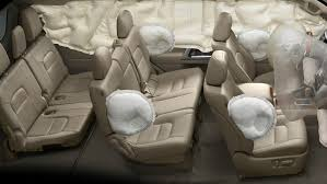 side curtain airbags offer head protection for all 3 rows chest side airbags offer chest