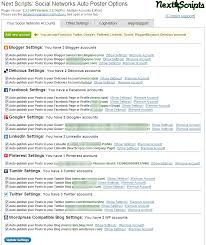 nextscripts social networks auto poster plugins screenshots