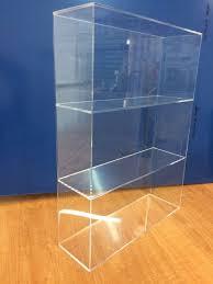 acrylic lucite countertop display case showcase box cabinet 14 x 4 1 4 x 19 h