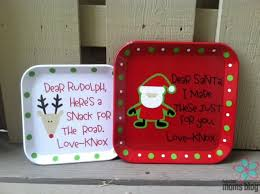 from too cute embroidered personalized gifts too cute santa rudolph plates
