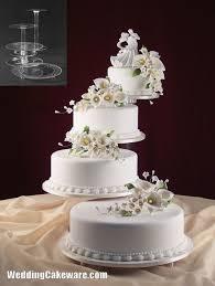 3 Tier Square Wedding Cake Pics Elegant Wedding Cake Stands