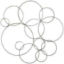 mirror wall decor circle panel: silver circles metal wall decor pier  imports