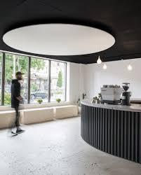 Design Shop Toronto Corrugated Metal Bar Runs Through Juice Cafe Cum Barbershop