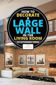 how to decorate a large wall in the
