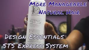 Sts System By Design Essentials Design Essentials Sts Express System How To Make Natural Hair More Manageable