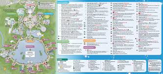 january  walt disney world park maps  photo  of