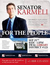Political Campaign Brochure Template Election Campaign Flyer