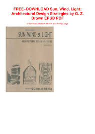 Sun Wind And Light Architectural Design Strategies Free Download Sun Wind Light Architectural Design