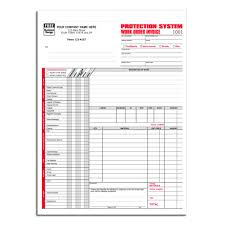 Security Installation Service Work Order Invoice Designsnprint