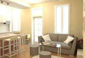 One Bedroom Apartment Living Room Small Bedroom Wall Paint Color With Home Decorating Ideas Along