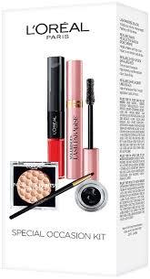 l oreal paris makeup gift set infallible metallic eye shadow lash paradise mascara lacquer eyeliner