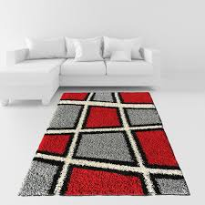 grey rug tar black and red rug red and black area