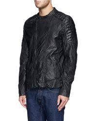 Shop Men's Scotch & Soda Leather Jackets from $185 | Lyst & Scotch & Soda | Quilted Perforate Leather Biker Jacket | Lyst Adamdwight.com