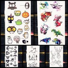 25 Pattern дети мультфильм временные татуировки наклейки симпатичные Panda Fox Cat