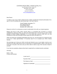 Medical Records Request Letter From Attorney Centre Pediatric Associates Pc