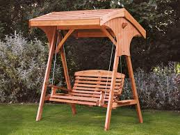 apex teak swing seat with roof