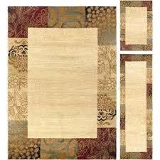 area rug sets 3 piece set