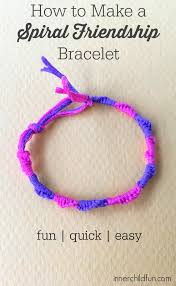 how to make spiral friendship bracelets