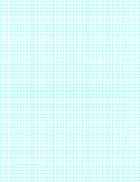 1 8 inch graph paper this letter sized graph paper has five aqua blue lines every inch