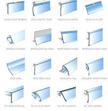 shelf edge trim plastic label holders for shelves