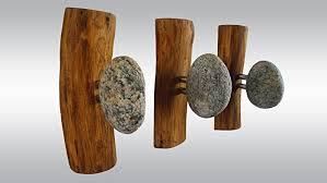 Solid Oak Coat Rack Amazon 100 Stone Hangers Wood Coat Rack With Rocks Rock Towel 40