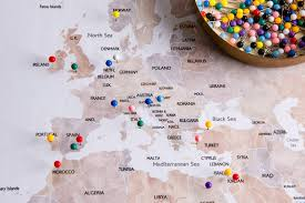 Pins For Maps How To Make A Push Pin Travel Map Carrentals