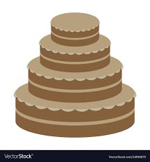 Flat Wedding Cake Designs Sweet Dessert In Flat Design Wedding Cake
