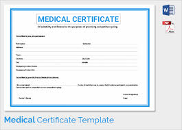 33 Useful Medical Certificates To Download Sample Templates