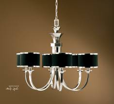 fashionable chandeliers with black shades within tuxedo 6 light black shade chandelier view 11 of