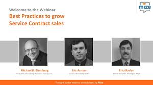 Service Contract Cool Best Practices To Grow Service Contract Sales Webinar By Mize