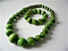 Chunky <b>Green Bead</b> Necklace for sale | eBay