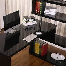 office corner shelf. HomCom Rotating Home Office Corner Desk And Storage Shelf Combo - Black 3 Office Corner Shelf