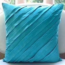 turquoise decorative pillows. Simple Pillows Turquoise Blue Pillow Covers Textured Pintucks Solid Color Throw Pillows  Cover Covers 18u0026quot And Decorative C