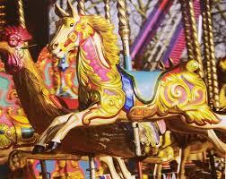 details about jigsaw puzzle americana amusement park carousel horse ride 1000 piece new
