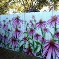 Рисунки на заборе на даче фото